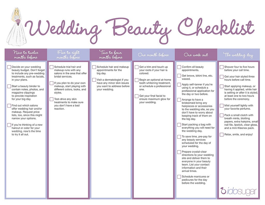 Download Your Wedding Beauty Checklist